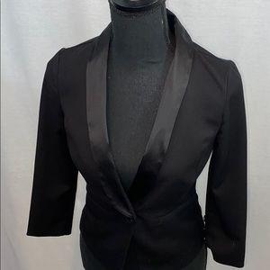 NWOT Guess brand tuxedo style blazer, black